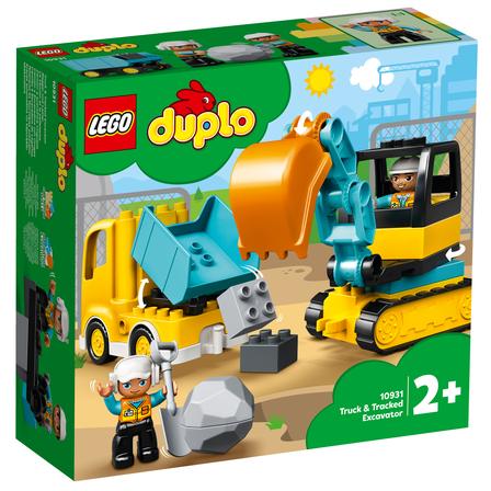 LEGO Duplo Town Ciężarówka i koparka gąsienicowa 10931 (2+) (1)