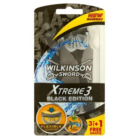WILKINSON Sword Xtreme 3 Black Edition Jednorazowe maszynki do golenia (1)