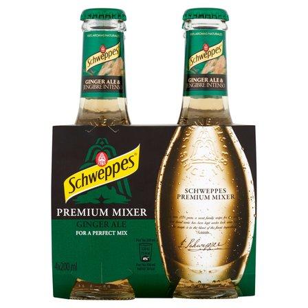 SCHWEPPES Premium Mixer Ginger Ale Napój gazowany (4 x 200 ml) (2)