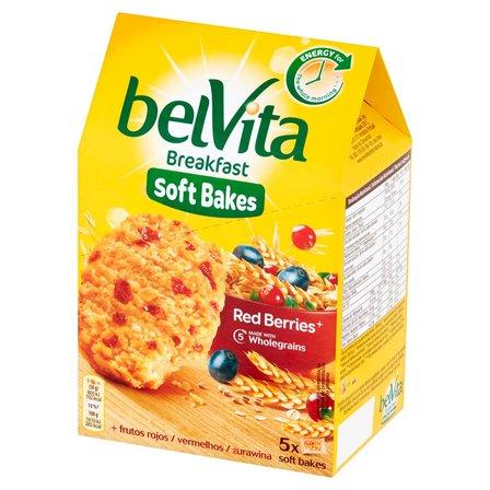 BELVITA Breakfast Ciastka zbożowe z żurawiną i rodzynkami (1)