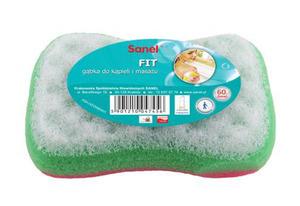 Sanel Gąbka Fit do kąpieli i masażu Kość (1)