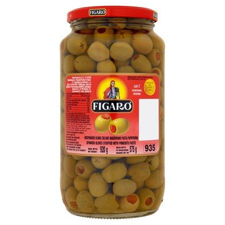 FIGARO Hiszpańskie oliwki zielone nadziewane pastą paprykową (2)