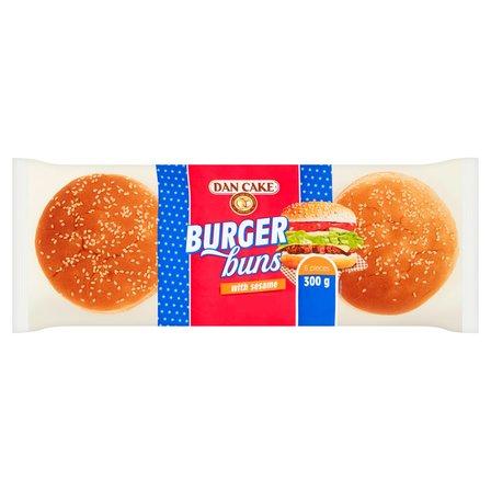 DAN CAKE Bułki pszenne do hamburgerów z sezamem (6 x 50 g) (1)
