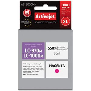 ACTIVEJET AB-1000MN Tusz do drukarki Brother zastępuje tusz Brother LC-970M różowy (1)