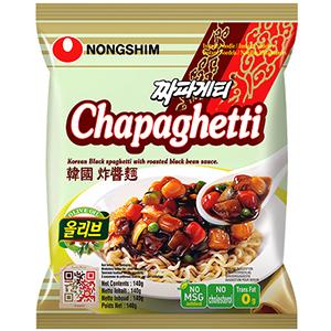 NONGSHIM Chapaghetti Koreańskie czarne spaghetti Danie błyskawiczne (1)