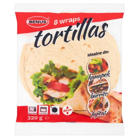 BENUS Tortilla placki do napełniania 20 cm (8 sztuk) (1)