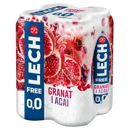 LECH Free Piwo bezalkoholowe granat i acai (4 x 500 ml) (1)