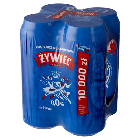 ŻYWIEC Piwo jasne bezalkoholowe (4 x 500 ml) (1)