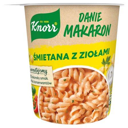 KNORR Danie makaron śmietana z ziołami (1)