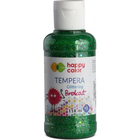 HAPPY COLOR Farba tempera brokatowa zielona (1)