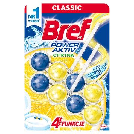 BREF Power Activ Lemon Zawieszka do muszli WC 2x50g (1)
