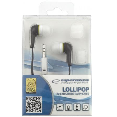 ESPERANZA Słuchawki douszne Stereo Lollipop EH146K czarny (2)