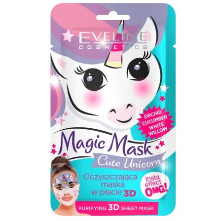 EVELINE Magic Mask Cute Unicorn Oczyszczająca maska w płacie (1)