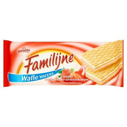 FAMILIJNE Wafle o smaku truskawkowo-śmietankowym (1)