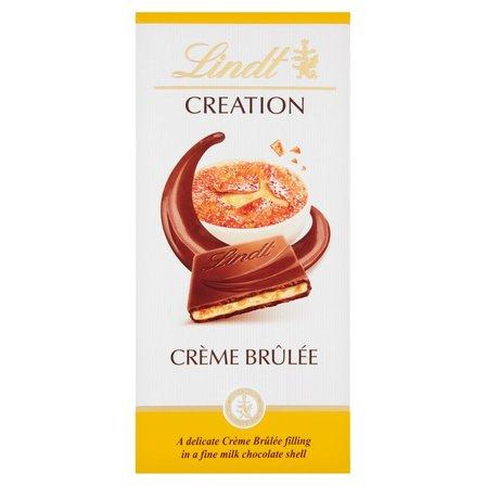 LINDT Creation Czekolada mleczna z nadzieniem mlecznym i kawałkami cukru karmelizowanego (1)
