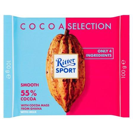 RITTER SPORT Czekolada mleczna 55% kakao (1)