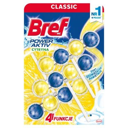 BREF WC Power Aktiv Zawieszka myjąco-zapachowa do muszli WC soczysta cytryna (3x50g) (1)