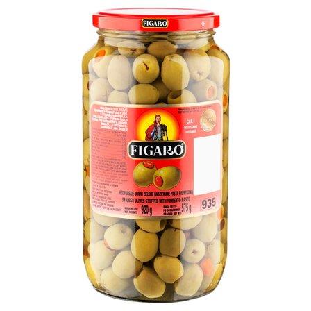 FIGARO Hiszpańskie oliwki zielone nadziewane pastą paprykową (3)