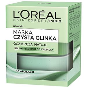 L'OREAL Skin Expert Maska Czysta Glinka Oczyszcza Matuje (1)