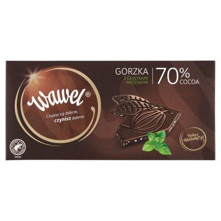 WAWEL Czekolada gorzka z cząstkami miętowymi 70% cocoa (1)