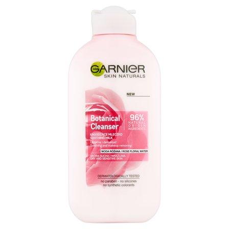 GARNIER Botanical Cleanser Woda różana Łagodzące mleczko do skóry suchej i wrażliwej (1)