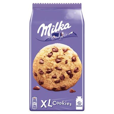 MILKA XL Cookies Choco Ciastka z kawałkami czekolady mlecznej (1)