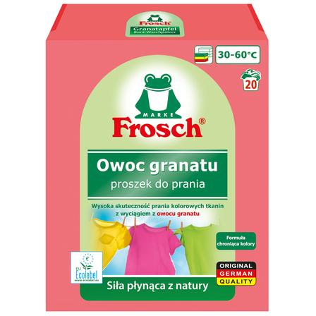 FROSCH Owoc granatu Proszek do prania tkanin kolorowych (18 prań) (1)