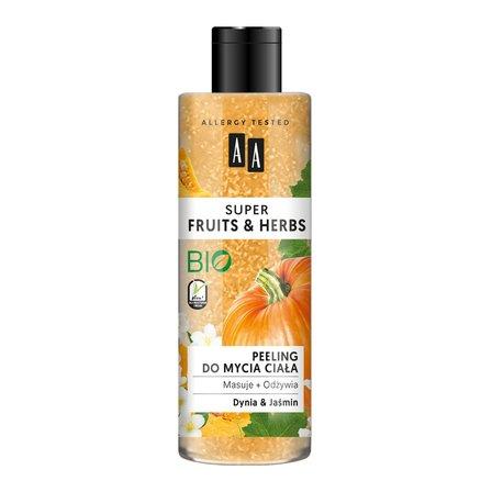 AA Super Fruits&Herbs peeling do mycia ciała dynia&jaśmin (1)