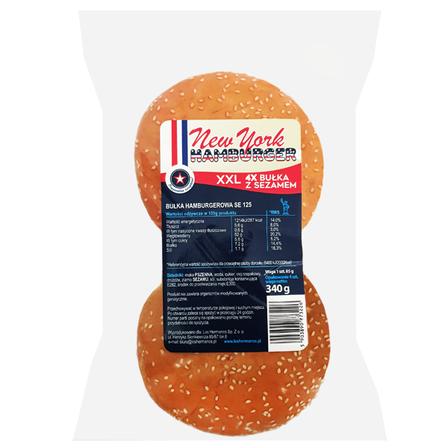 LOS HERMANOS New York Hamburger z sezamem XXL (4 szt.) (1)