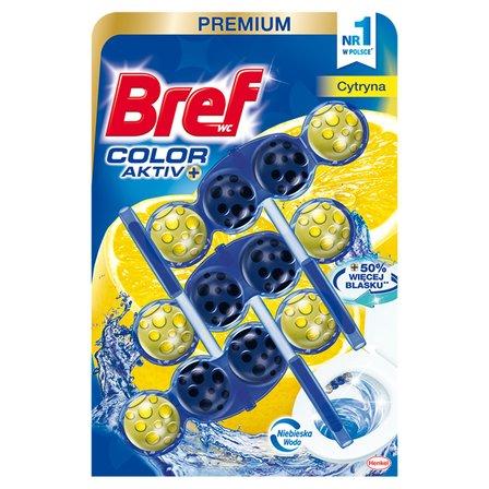 BREF WC Color Aktiv+ Zawieszka do muszli WC cytryna (3 x 50 g) (1)