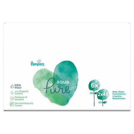 PAMPERS Aqua Pure Chusteczki nawilżane dla niemowląt (2 x 48 szt.) (1)