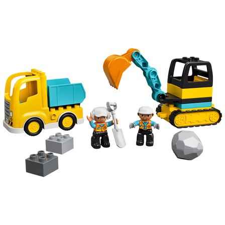 LEGO Duplo Town Ciężarówka i koparka gąsienicowa 10931 (2+) (2)