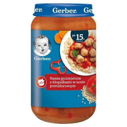 GERBER Kasza jęczmienna z klopsikami w sosie pomidorowym dla dzieci po 15. m-cu (1)