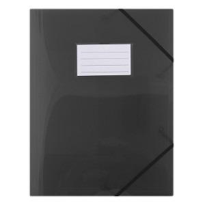 DONAU Teczka A4 z gumką PP półtransparentna czarna (1)