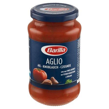 BARILLA Aglio Sos pomidorowy z czosnkiem, czerwonym winem i ziołami (1)