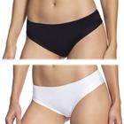 BELLINDA Brazilian Minislip Figi damskie z mikrofibry białe/czarne (1)