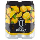 WARKA Radler Ciemne piwo bezalkoholowe z lemoniadą o smaku cytrynowym (4 x 500 ml) (2)